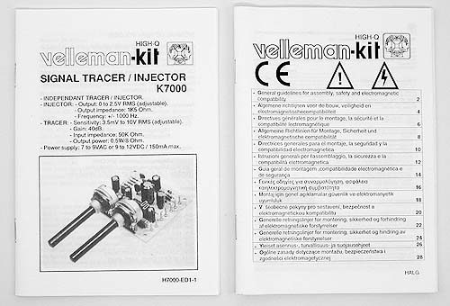 Signal Injector Kit : Signal tracer injector kit k